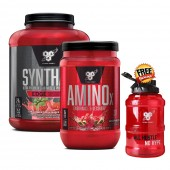 BSN Syntha 6 Edge 4lb + Amino X 30 Serve +Free BSN Water Bottle