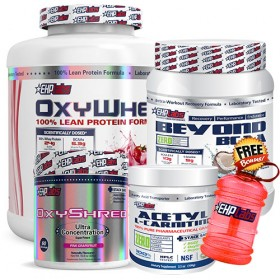 EHPLabs Oxy Stack – OxyWhey 5lbs + BCAA + Shred + Carnitine